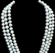 "#250 -TRIPLE 7.5MM WHITE CULTURED 19"" NECKLACE"
