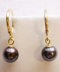 #21 - 7.5MM hang black earring