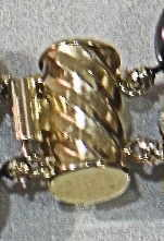 #4 - 14K GOLD DOUBLE BARREL CLASP