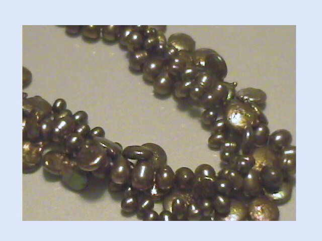 #521 - dark olive bronze multi necklace close