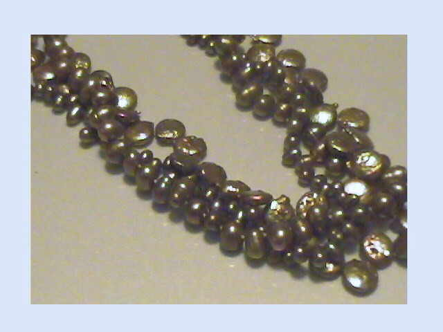 #521 - dark olive bronze multi necklace