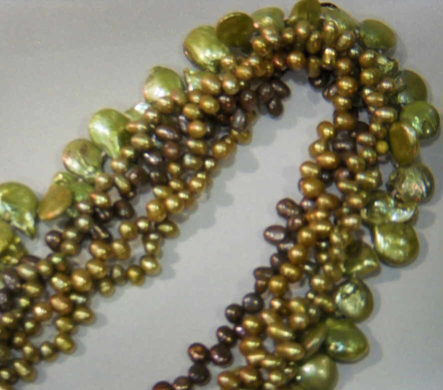 #535 - NECK-MULTI- GREEN BROWN