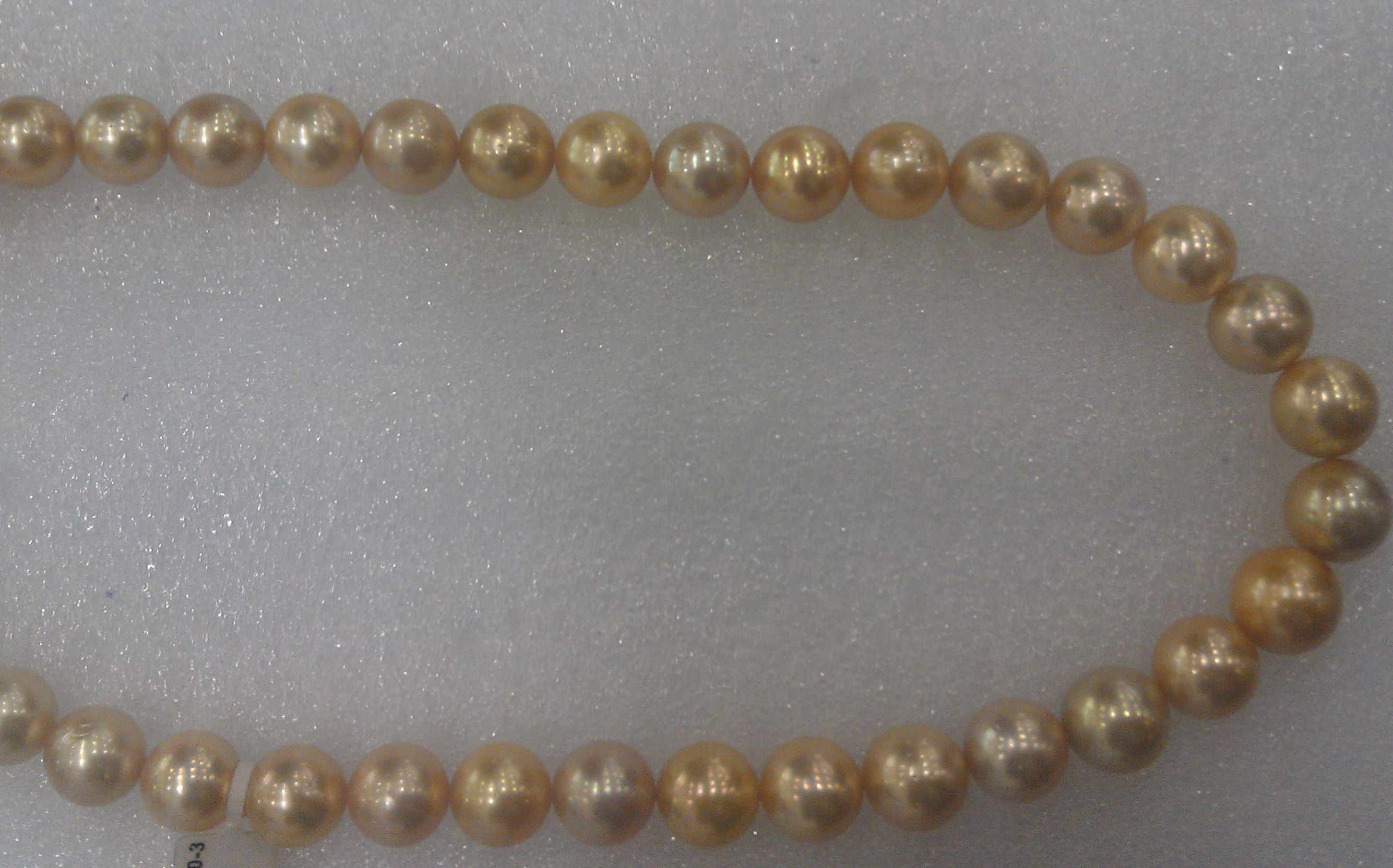 #702 - 18 INCH 14MM SOUTH SEA GOLDEN  14K CLASP