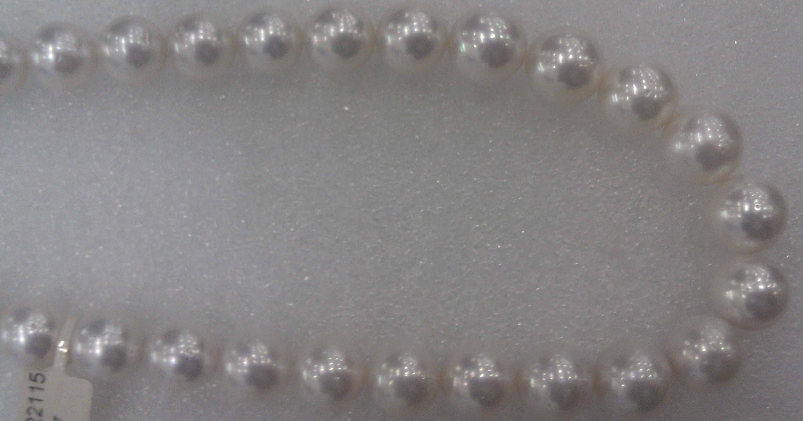 #703 - 18 INCH 14MM SOUTH SEA WHITE  14K CLASP