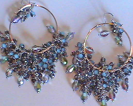 #AJ901  CRYSTAL DESIGNER EARRINGS