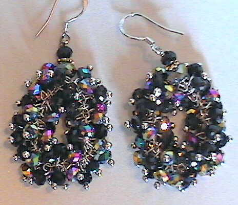 #AJ915  CRYSTAL DESIGNER EARRINGS
