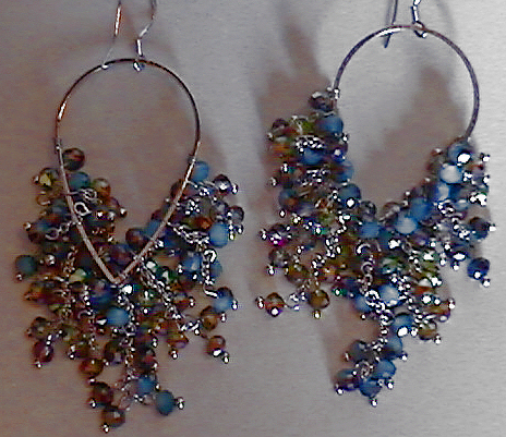 #AJ917  CRYSTAL DESIGNER EARRINGS